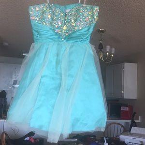 Light Blue Semi-Formal Dress
